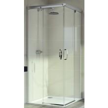 Zástěna sprchová čtverec Huppe sklo Aura elegance 1000x1900 mm stříbrná matná/čiré