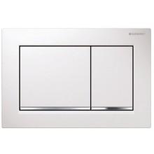 GEBERIT OMEGA 30 ovládací tlačítko 21,2x14,2cm, bílá/chrom lesk 115.080.KJ.1