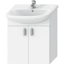 JIKA LYRA PACK skříňka s umyvadlem 608x310x699mm, 2 dveře, bílá