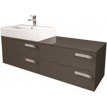Nábytek skříňka pod umyvadlo Ideal Standard Strada 140x42x42 cm lesklý lak šedý
