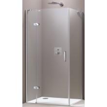 HÜPPE AURA ELEGANCE SW 1000 boční stěna 1000x1900mm, 4-úhelník, stříbrná matná/čiré Anti-Plaque