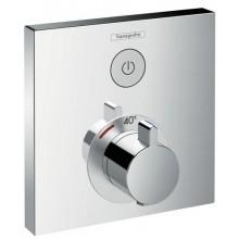 Baterie sprchová Hansgrohe podomítková termostatická ShowerSelect vrchní sada  chrom