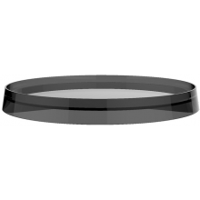 LAUFEN KARTELL BY LAUFEN plastový disk 275mm pro umyvadlové a bidetové baterie a držák toaletního papíru/nástěnnou poličku, kouřová 3.9833.5.085.002.1