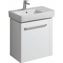 KERAMAG RENOVA NR. 1 COMPRIMO NEW skříňka pod umyvadlo 59x60,4x33,7cm, závěsná, s držákem na ručník vpravo, bílá matná/bílá lesklá 862065000