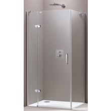 Zástěna sprchová boční Huppe sklo Aura elegance Akce 800x1900 mm stříbrná matná/čiré AP