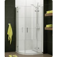 Zástěna sprchová čtvrtkruh Ronal Pur Light PLR 50 800 50 07 800x2000 mm aluchrom/čiré AQ