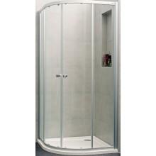Zástěna sprchová čtvrtkruh - sklo Concept 100 NEW 1000x1000x1900/R500 mm stříbrná matná/čiré AP