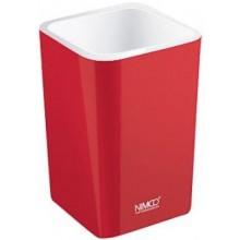 NIMCO ELI pohárek na kartáčky 75x75x112mm červená EL 3058-30