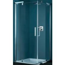 Zástěna sprchová boční Huppe sklo Refresh 900 x 1928 mm stříbrná mat/čiré+AP