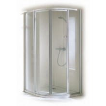 Zástěna sprchová čtvrtkruh - sklo Concept 100 900x1900mm bílá/sklo čiré