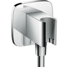 HANSGROHE FIXFIT PORTER S sprchový držák G1/2xG1/2 se zabudovanou přípojkou pro hadici, chrom