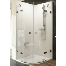 Zástěna sprchová čtvrtkruh Ravak sklo Brilliant BSKK4-80 800x1950mm chrom/transparent