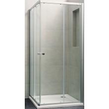 CONCEPT 100 NEW sprchové dveře 800x800x1900mm posuvné, rohový vstup 2 dílný, stříbrná pololesklá/čiré sklo s AP