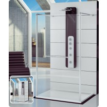 Zástěna sprchová boční Ronal sklo FUN 1200x2000 mm aluchrom/čiré AQ