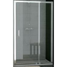 SANSWISS TOP LINE TED sprchové dveře 1000x1900mm, jednokřídlé s pevnou stěnou v rovině, matný elox/čiré sklo