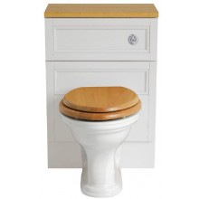 HERITAGE CLAVERTON WC mísa 365x527mm, pro nástěnnou skříňku, vodorovný odpad, bílá