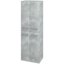 DŘEVOJAS Q MAX SVZ 50 FC vysoká skříň 500x1545x352mm, závěsná, D01 beton/D01 beton