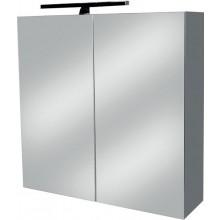 EDEN ANNA N zrcadlová skříňka 600x600x180mm, s LED osvětlením, bílá