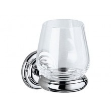 Doplněk sklenička Keuco Astor  chrom/sklo čiré