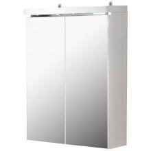 CONCEPT 50 zrcadlová skříňka 52,4x25x62,8cm se zásuvkou a vypínačem, bílá/švestka