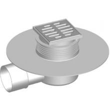 SAM HOLDING T-1025 C vpusť DN75/50/40 podlahová, s bočním odpadem, PP/nerez