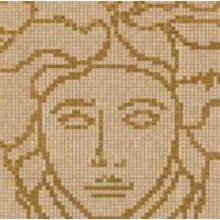 VERSACE VANITAS MEDUSA dekor 118,4x118,4cm, oro/noce/gold