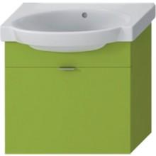 Nábytek skříňka s umyvadlem Jika Tigo 60 cm zelená