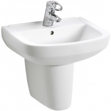 Umyvadlo klasické Sanitec s otvorem Primo Kolo 55x44cm bílá
