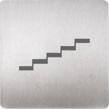 SANELA SLZN44M piktogram schody, 120x120mm, nerez mat
