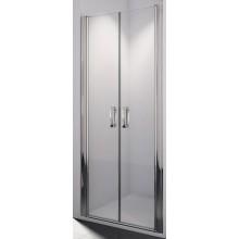 SANSWISS SWING LINE SL2 sprchové dveře 900x1950mm dvoukřídlé, aluchrom/linie sklo