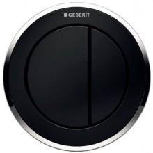 GEBERIT TYP 10 dálkové ovládání 10cm, pneumatické, pro 2 množství splachování, tlačítko na nábytku, černá/chrom lesklá/černá