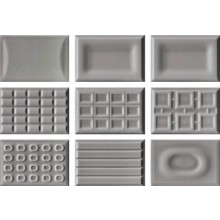 IMOLA CENTO PER CENTO CACAO DG dekor 12x18cm, dark grey