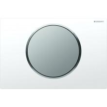 GEBERIT SIGMA 10 ovládací tlačítko 24,6x16,4cm, bílá/chrom mat 115.758.KL.5