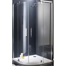 Zástěna sprchová čtvrtkruh Huppe sklo Refresh 900x1928 mm titan.stříbrná/Karo AP