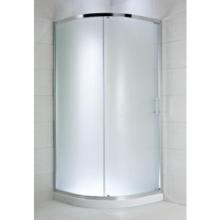 JIKA CUBITO PURE sprchový kout čtvrtkruh 1000x1000x1950mm s posuvnými dveřmi, chrom/transparentní sklo