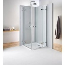 KOLO NEXT čtvercový sprchový kout 900x1950mm křídlové dveře otevírané vně, chrom/čiré sklo HKDF90222003