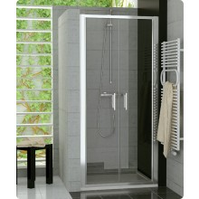 Zástěna sprchová dveře Ronal sklo TOP-line 750x1900 mm bílá/durlux AQ