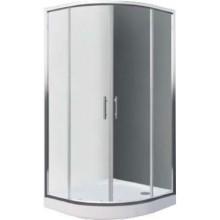 EASY SET ELR2 900 B sprchový kout a ELR 900 sprchová vanička 900x1900mm R550 čtvrtkruh, bílá/transparent