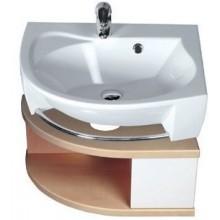 RAVAK ROSA SDU L skříňka pod umyvadlo 560x400x240mm se šuplíkem, levá, bílá/bílá