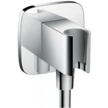 HANSGROHE FIXFIT PORTER E sprchový držák G1/2xG1/2 se zabudovanou přípojkou pro hadici, chrom