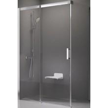 RAVAK MATRIX MSDPS 100x100 R sprchové dveře 1000x1000x1950mm, s pevnou stěnou, satin/transparent