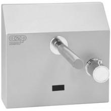 """AZP BRNO AUM 4.TV umyvadlová baterie G1/2"""" s termostatickým ventilem, nástěnná, automatická, nerez"""