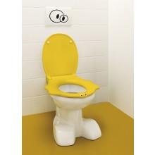 KERAMAG KIND klozetové sedátko, dětské, s poklopem, s automatickým pozvolným sklápěním, žlutá 573367000