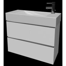 Nábytek skříňka pod umyvadlo Jika Cubito Pure 2 zásuvky 80 cm bílá