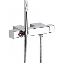 Baterie sprchová Roca nástěnná termostatická Thesis se sprchou, hadicí 1,7 m a držákem  chrom