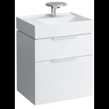 LAUFEN KARTELL BY LAUFEN skříňka pod umyvadlo 595x455x617mm se dvěma zásuvkami, bílá 4.0756.2.033.631.1
