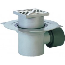 HL vpust DN75/110 s vodorovným odtokem a izolační přírubou, polypropylen