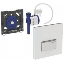 GEBERIT ovládání splachování pisoárů Sigma 50, 13x13cm, pneumatické ruční, alpská bílá