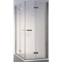 SANSWISS SWING-LINE F SLF2D sprchové dveře 1000x1950mm pravé, dvoudílné skládací, bílá/čiré sklo