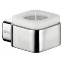 ESPRIT svícen na čajovou svíčku 88x47mm, sklo/chrom